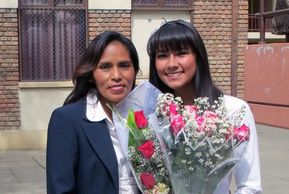 Roxana and Alexandra at Graduation in Cochabmaba, Bolivia