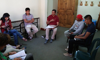 Juan Jose teaching Sunday School Class