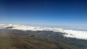 Cochabamba Mountians from Airplane