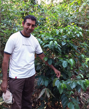 Juan Jose with Coffee Tree