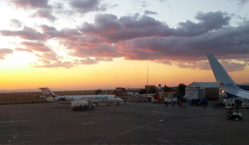 La Paz Airport - Sunrise
